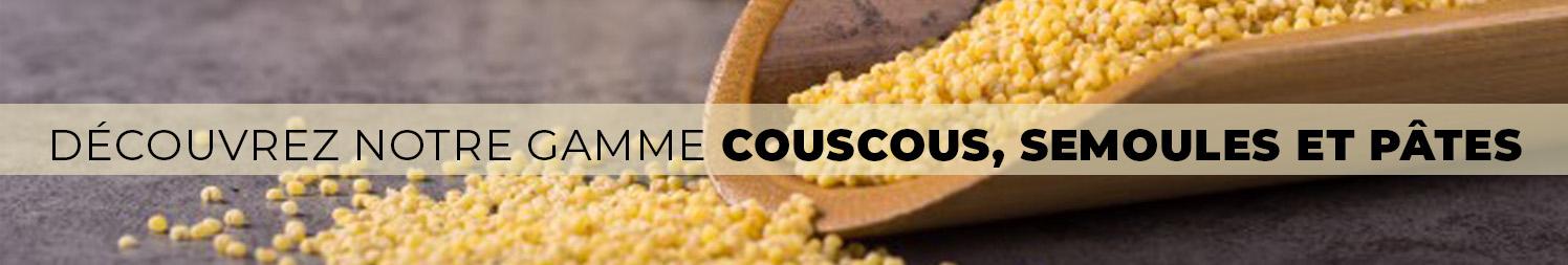 Couscous, semoule et pates