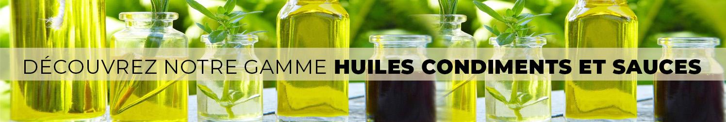Huiles, condiments et sauces