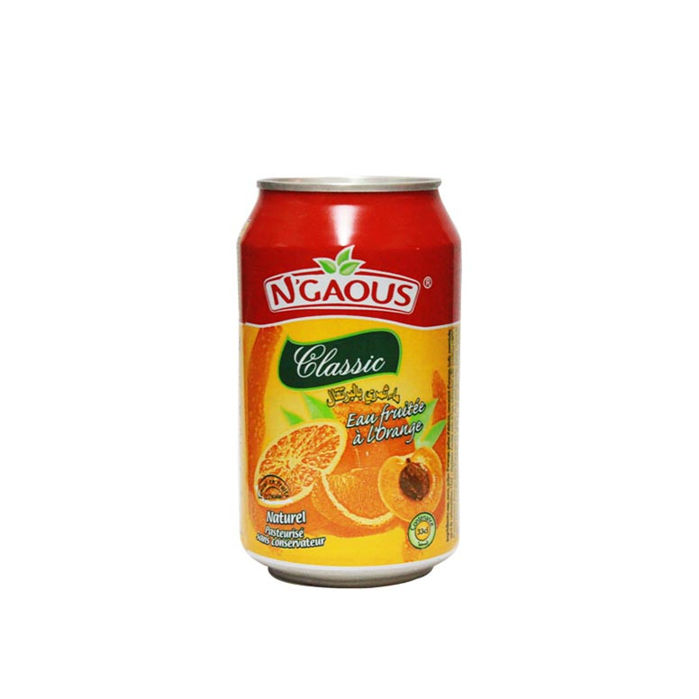 BOISSON NGAOUS CANETTE 24X33CL ORANGE