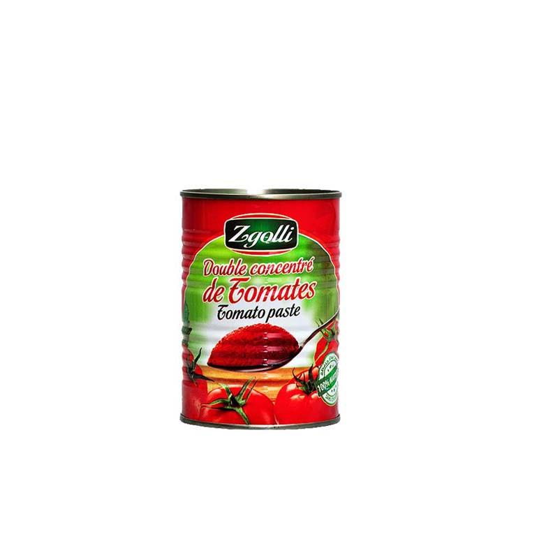 Double Concentré de Tomates Tunisie (Cap Bon) ZGOLLI 1/6 X 48