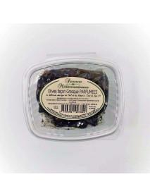 Olives noires FACON GRECE PARFUMEES - Barquettes 16x250g